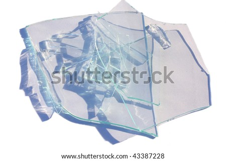 Broken glass isolated