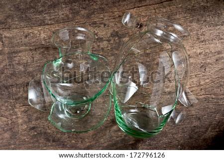 broken glass vase