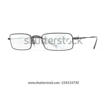 Broken glasses - stock photo