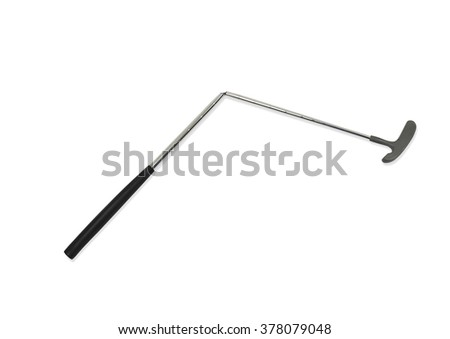 Broken Golf Club on a White Background