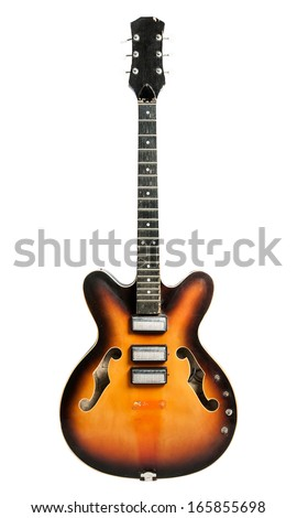 Broken Guitar - stock photo
