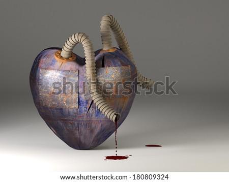 Broken heart. - stock photo