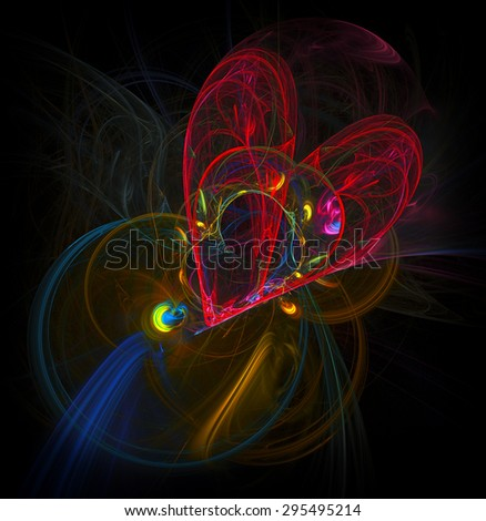 Broken Heart abstract illustration - stock photo