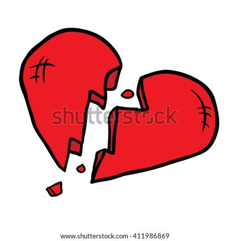 broken heart cartoon illustration isolated on stock illustration rh shutterstock com cartoon broken heart pic broken hearted girl cartoon