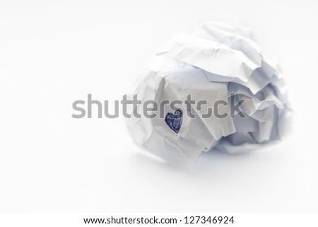 Broken heart, concept photo. - stock photo