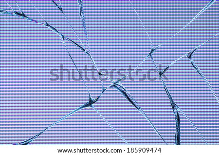 Broken LDC screen - stock photo