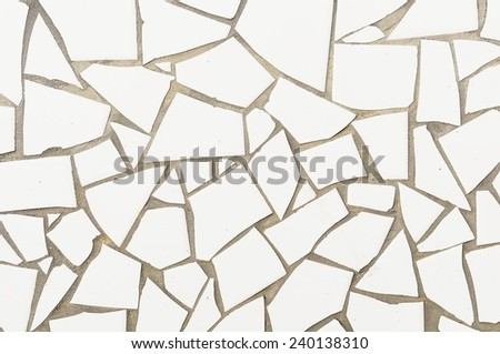 Broken mosaic tiles background