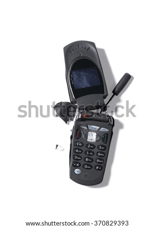 Broken outdated mobile telephone