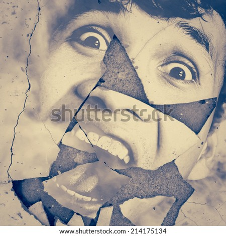 Broken Scary,Horror Background For Movies Poster Project  - stock photo