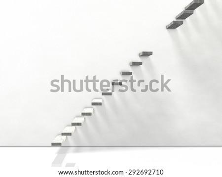 broken stairs. computer generated image - stock photo