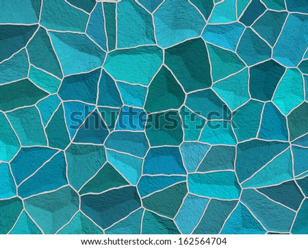 Broken tiles pattern - stock photo