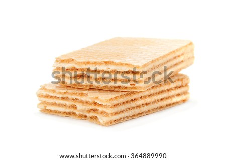 Broken wafers stick isolated on white background