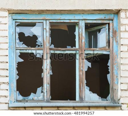 Broken Window Stock Images Royalty Free Images Amp Vectors