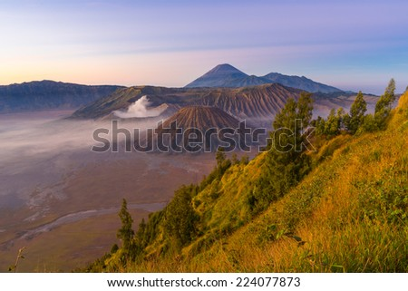 Bromo mountain landscape from Pananjakan II, Indonesia