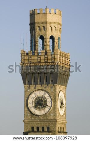 Bromo-Seltzer Clock Tower, Baltimore, Maryland - stock photo