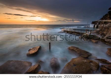 Bronte Rock Pool , Sydney, Australia - stock photo