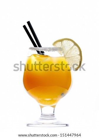 Bronx cocktail drink isolated on white background