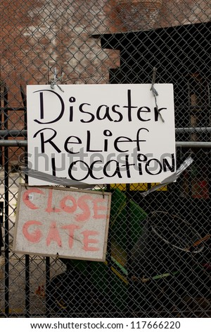 BRONX, NY - NOVEMBER 3: Hurricane Sandy causes gas shortage in Bronx gas relief program at Armory in the Bronx. NY, U.S., on Saturday, November 3, 2012. - stock photo