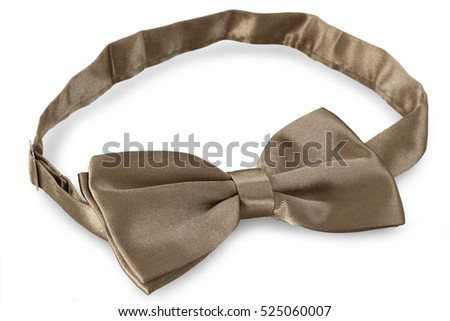 Bronze bow Tie, isolated on white background