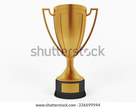 Bronze cup for third place - stock photo