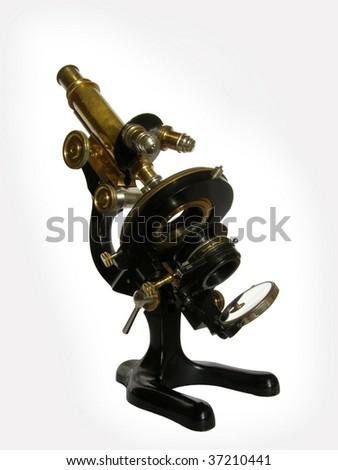 Bronze microscope - stock photo