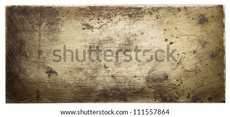 Bronze plate texture, old metal background.