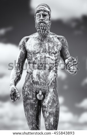 Bronzes of Riace, Il Giovane - The Riace bronzes, or the Riace Warriors, are two full size Greek bronzes of naked bearded warriors, cast about 460â??450 BC that were found in the sea near Riace in 1972