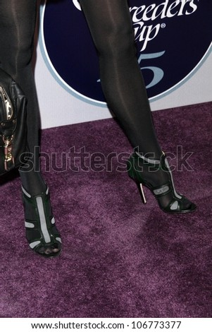 Brooke Burns' shoes  at the 2008 Breeders' Cup Winners Circle Gala. Hollywood Palladium, Hollywood, CA. 10-23-08