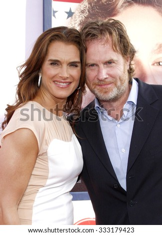 Brooke Shields and Chris Henchy at the Los Angeles premiere of 'The Campaign' held at the Grauman's Chinese Theatre in Hollywood, USA on August 2, 2012.