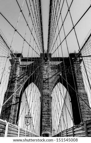 Brooklyn Bridge, Manhattan, New York - stock photo