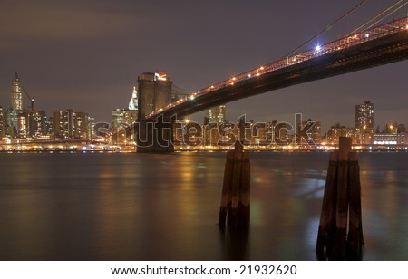 Brooklyn Bridge & Manhattan Skyline, New York City