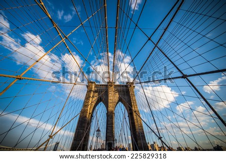 Brooklyn bridge, New York City. USA. - stock photo