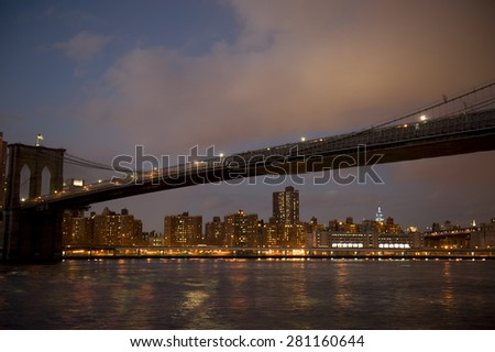Brooklyn Bridge, NYC - stock photo