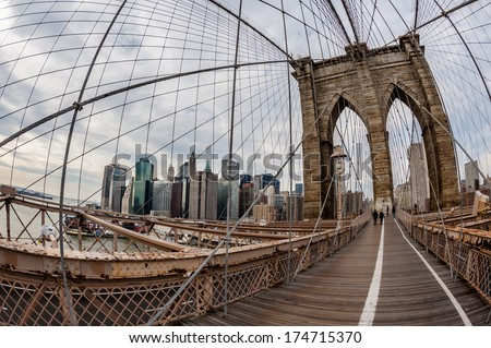 brooklyn bridge pylon NYC