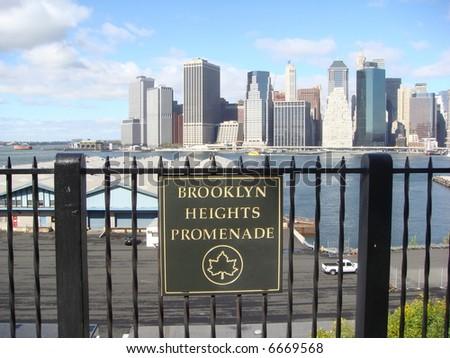 Brooklyn Heights Promenade - stock photo