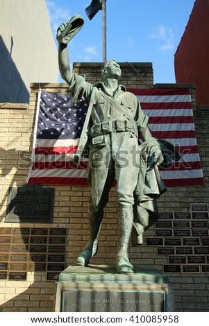 BROOKLYN, NEW YORK - APRIL 23, 2016: Red Hook Doughboy Memorial in Brooklyn, New York.  - stock photo