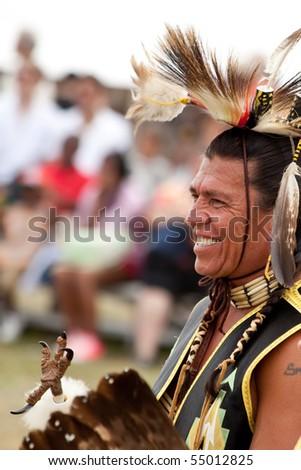 BROOKLYN, NY - JUNE 6: Native American Festival at Floyd Bennett Field on June 6, 2010 in Brooklyn, NY. - stock photo