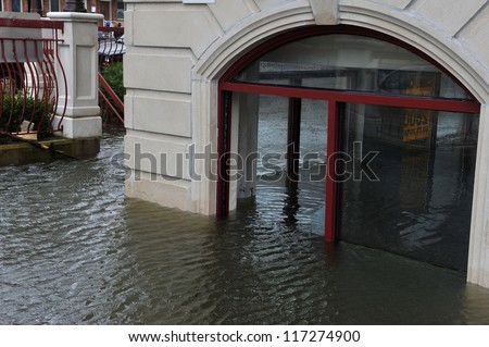 BROOKLYN, NY - OCTOBER 30: Serious flooding in the buildings at the Sheapsheadbay neighborhood due to impact from Hurricane Sandy in Brooklyn, New York, U.S., on Tuesday, October 30, 2012.