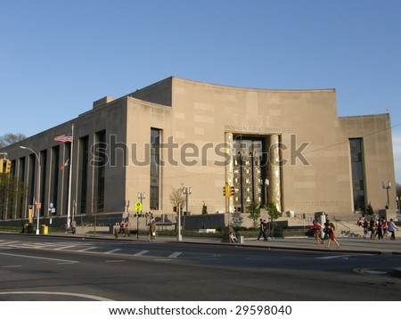 Brooklyn Public Library in New York City - stock photo