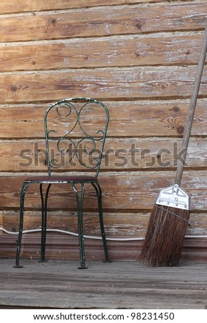 Broom and Chair