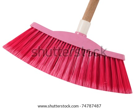 Broom. Isolated - stock photo