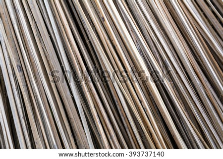 Broom made from coconut leaf, Coconut leaf broom, Texture of coconut leaf