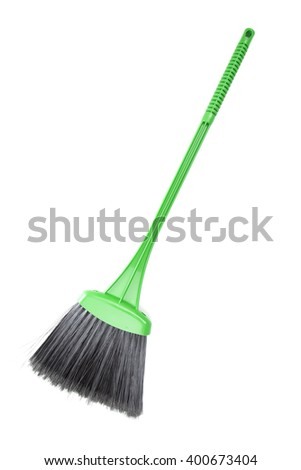 broom on the white background