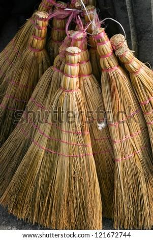 Brooms - stock photo