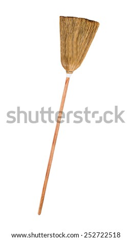 broomstick isolated - stock photo