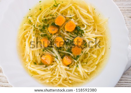 Broth - stock photo