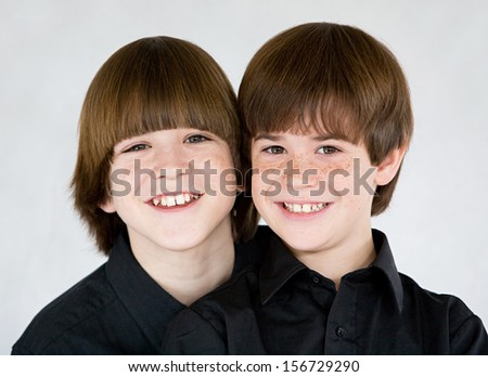 Brothers Smiling - stock photo