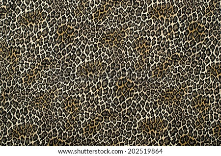 Brown and black leopard pattern. Animal print as background. - stock photo