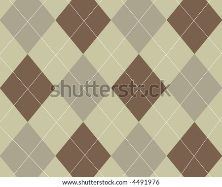 Brown and tan argyle background