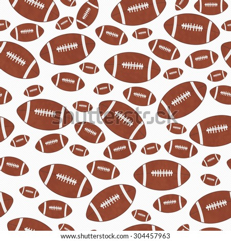 Brown and White Football Tile Pattern Repeat Background that is seamless and repeats